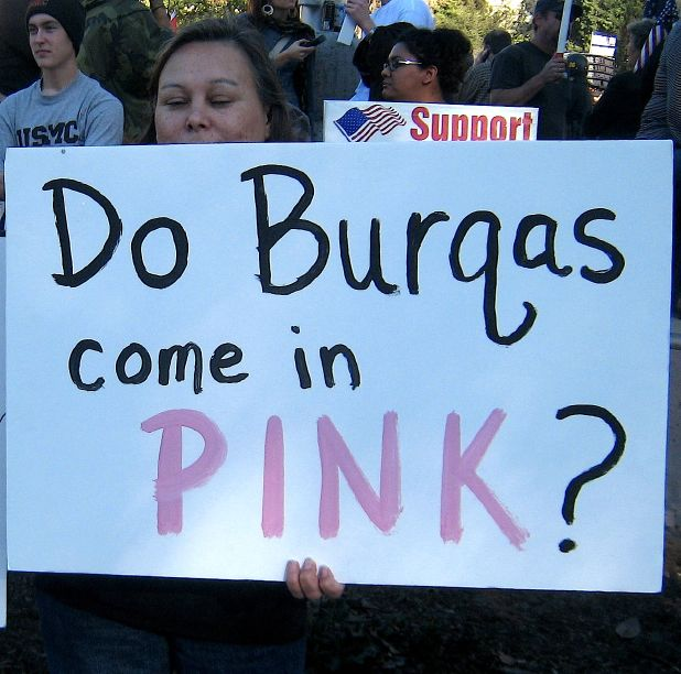My favorite counter Code Pink sign