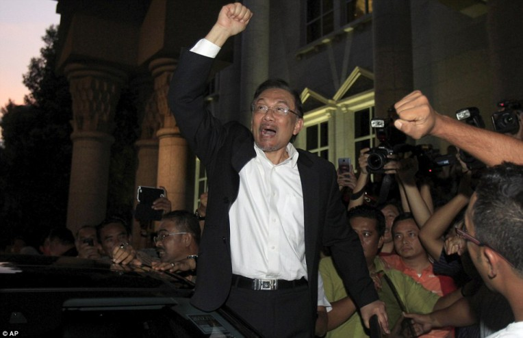 Jailed: Malaysian opposition leader Anwar Ibrahim