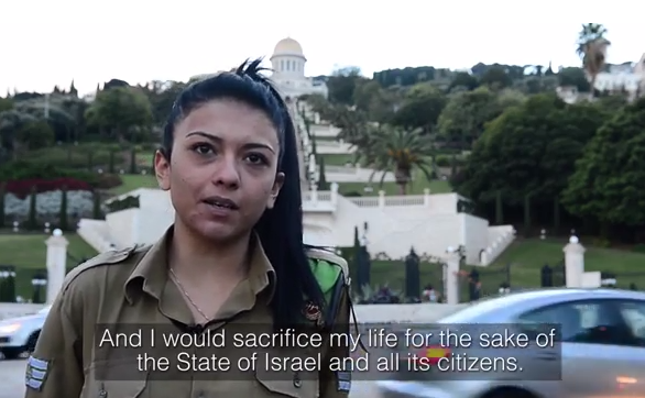 Mona Liza Abdo, an Israeli-Arab soldier in the Israel Defense Forces, said she wasn't required to enlist in the Israeli army, but her determination to protect Israel motivated her to volunteer