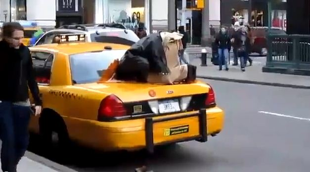 Do what they do in NYC, pray on the trunk of your cab