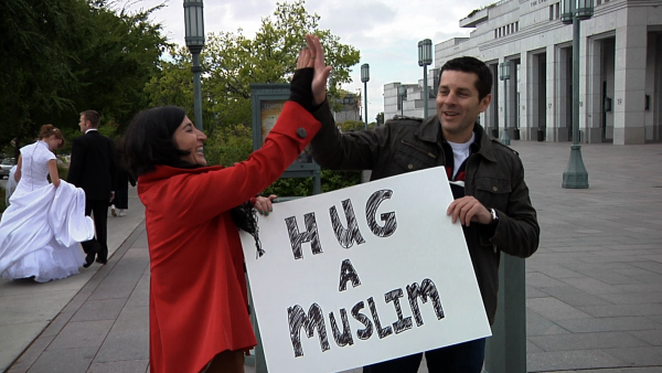 This is Dean Obeidallah's  (photo right) idea of comedy on the streets of NYC near Ground Zero