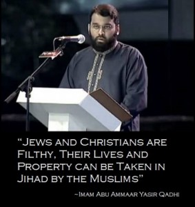 TENNESSEE: Muslim imam …A REAL HATE MONGER… says Jews and Christians are filthy and impure, and their lves and property can be confiscated by Muslims in America