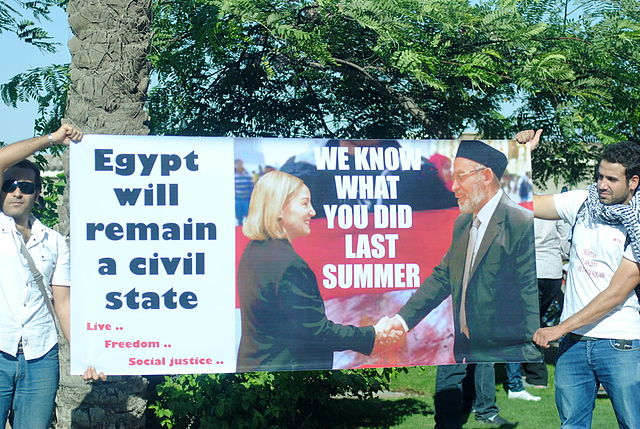 Obama's former ambassador to Egypt, Anne Patterson, making nice Mohammed Badie
