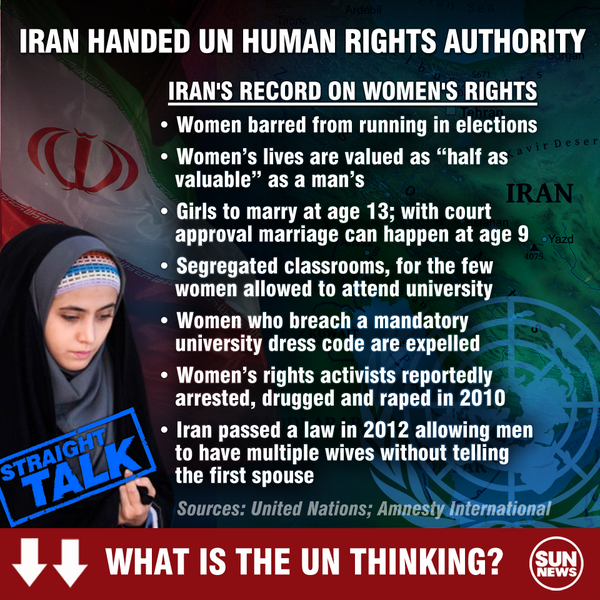 How can this be? …. IRAN wins seat on UN Council that champions 'women's rights'