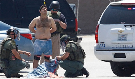 Police strip-searched the perp checking for bombs