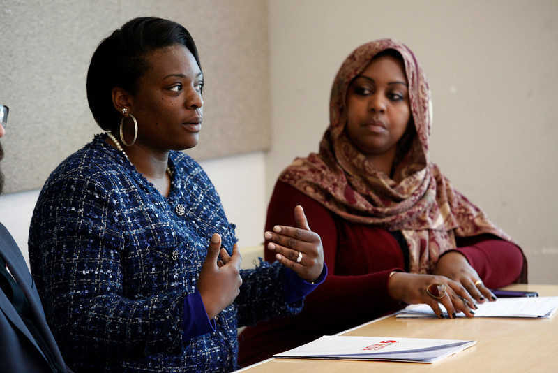 Roseana Shavers (left) talks about growing up in the radical Muslim group Nation of Islam