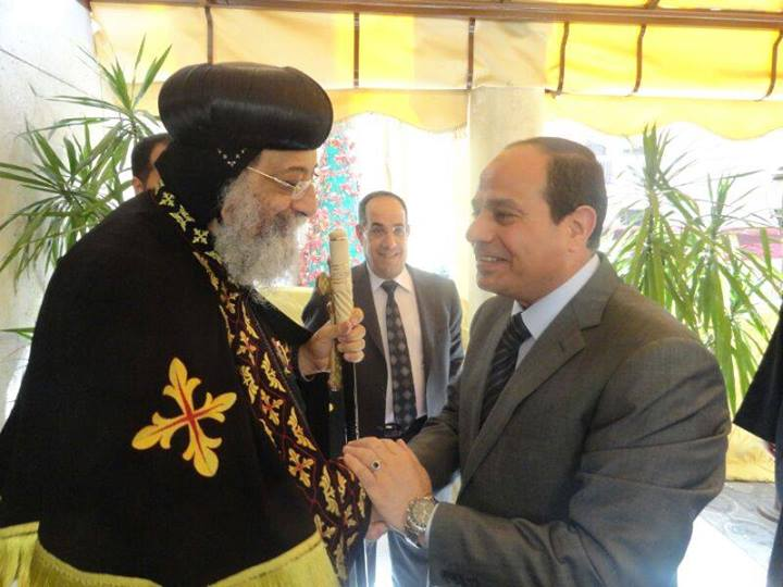 Sisi has strong support of Coptic Christians