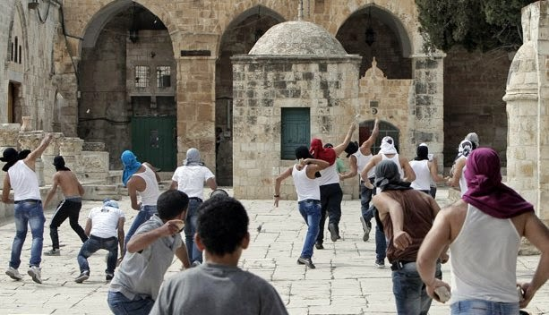 2012 Pal Arab Rock Throwers Temple Mount Oct 2012 AFP