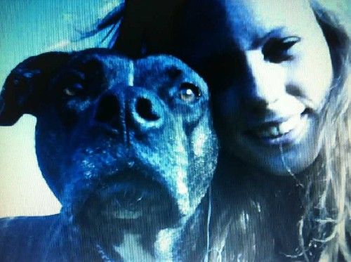 Sara Lund-Jensen and her dog, Kaiser