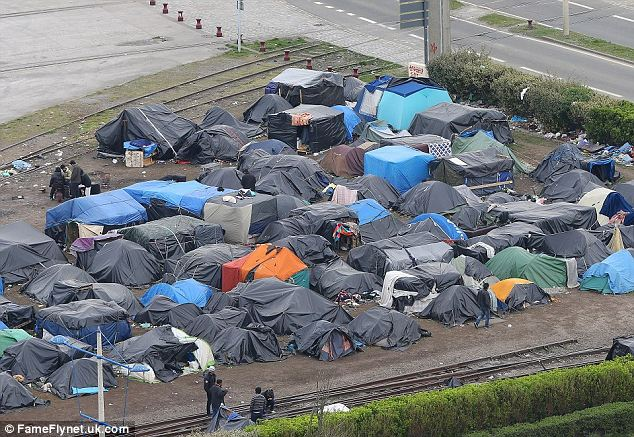 Illegal alien tents in Calais