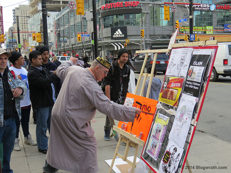 Drawing in front of the Eaton Centre