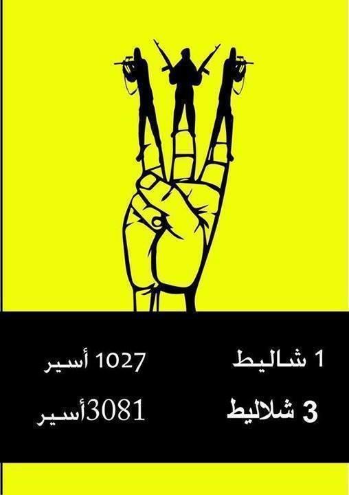 1 Shalit=1027 prisoners, 3 Shalits= 3081 prisoners
