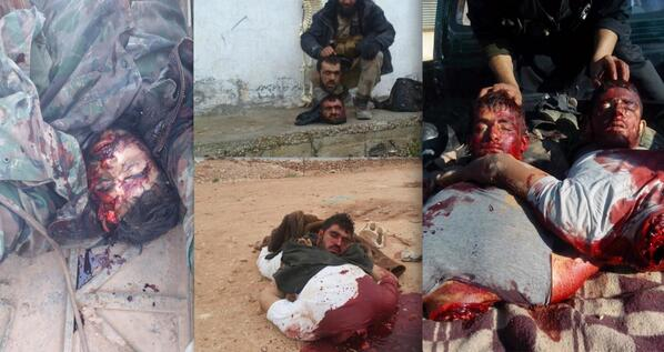 Excited Christians being beheaded in syria