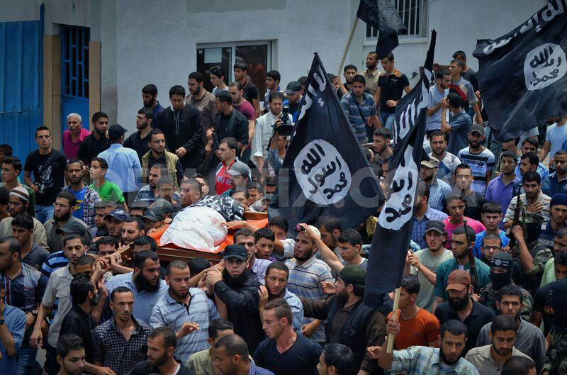 ISIS flags waved in Gaza during a funeral of a terrorist killed by IAF. ISIS defies Hamas and increases its presence