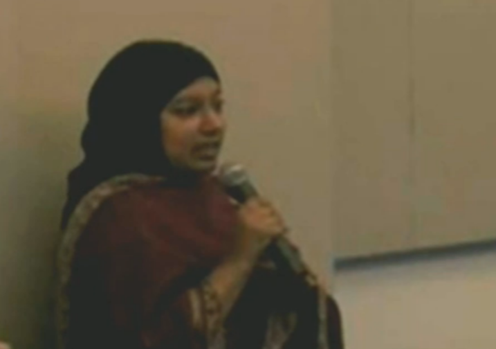 Saba Ahmed as she appeared at the Heritage Foundation