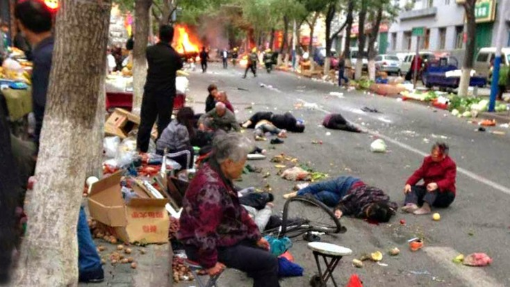 May 22, 2014: At least 31 have been killed and more than 90 injured in a Uighur Muslim terrorist attack in Urumqi, the provincial capital of Xinjiang province in China. The attack is the latest in a string of attacks perpetrated by Uighur separatists