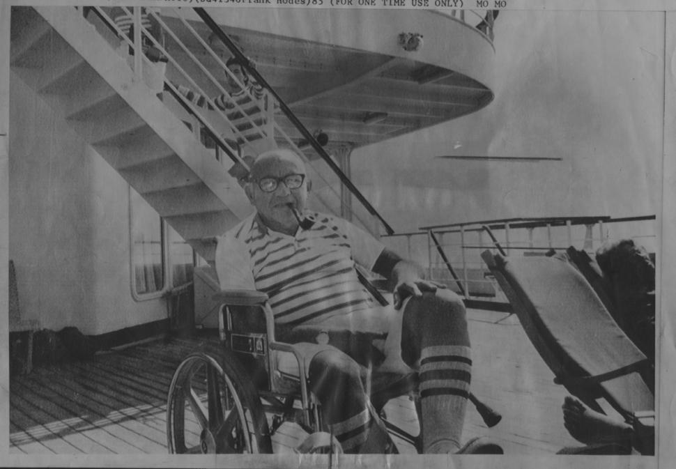 Leon Klinghoffer on the Achille Lauro cruise ship prior to his murder