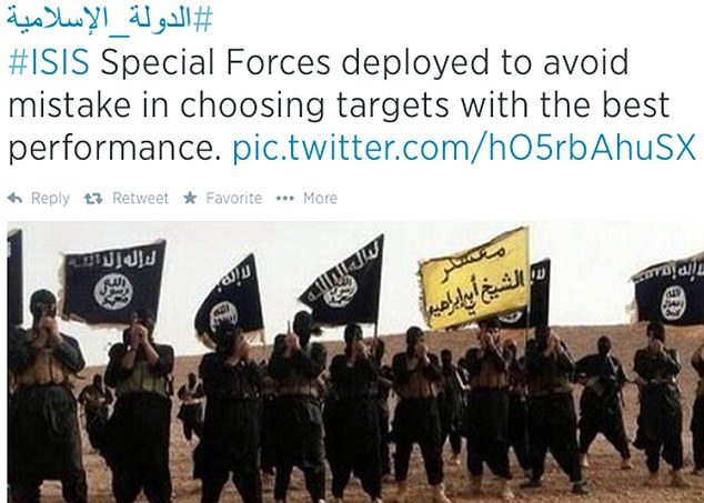 Social media like this Twitter feed has played a huge role in recruiting members of Isis especially from overseas