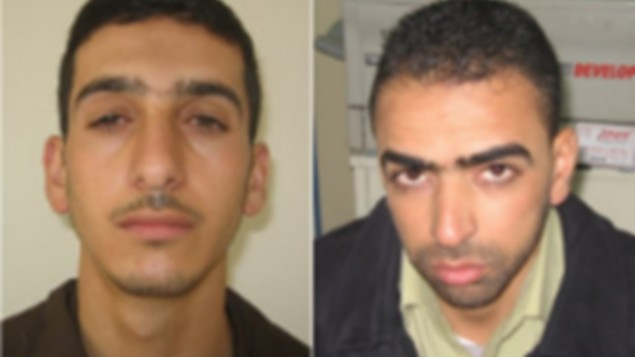 The Israeli government last week named Amer Abu Aysha, left, and Marwan Kawasme as the key suspects in the kidnapping