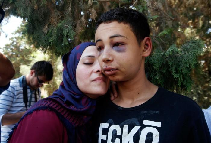 Tariq Abu Khdeir and Mommy