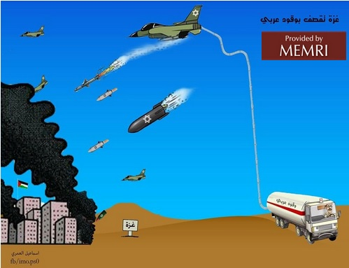 """""""Gaza is bombed [by Israeli planes] fueled by Arab petroleum"""""""