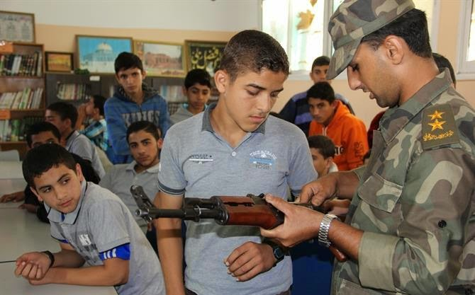 Gee, I wonder what other weapons Hamas is storing in Gaza schools?