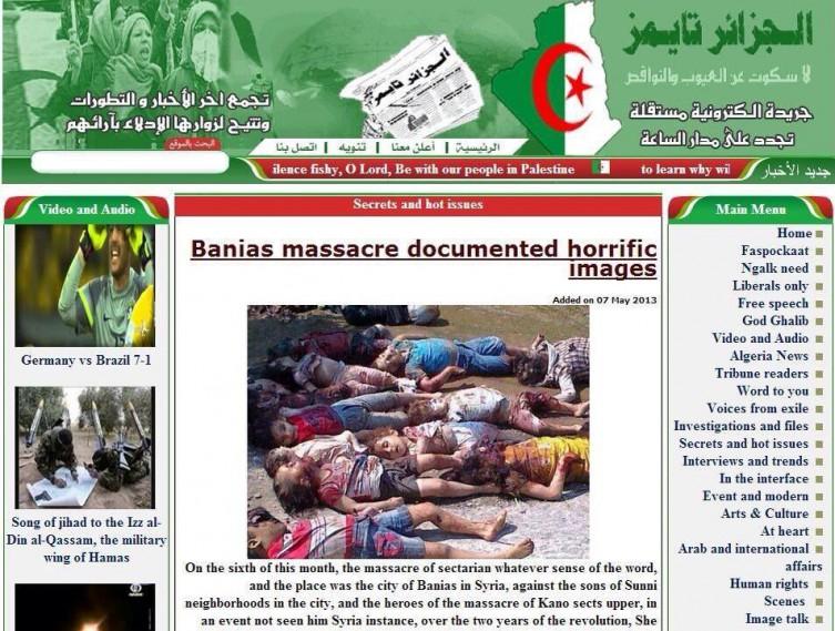 SYRIA, NOT GAZA as below