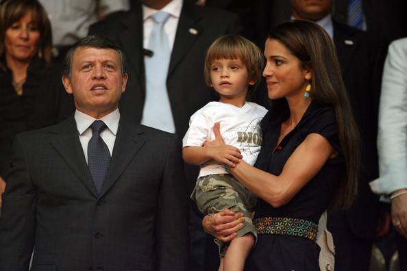 U.S. ally King Abdullah II of Jordan and his wife Queen Rania and their son, the Prince Hashem bin Al Abdullah