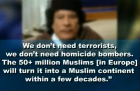 "Moammar Gaddafi warned Europe, ""If I go down, Europe goes black"""