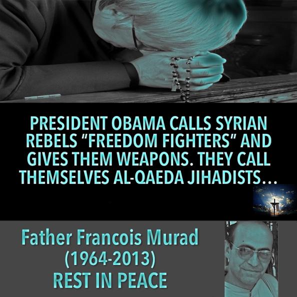 Father Francois Murad beheaded in public by Syrian jihadist 'rebels'