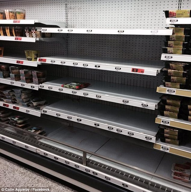 Sainsbury's store shelf emptied of Kosher products