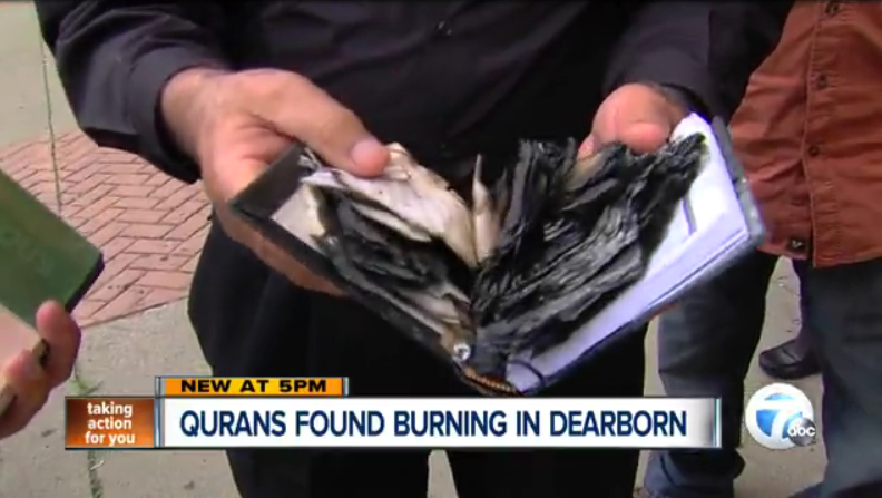 Qurans-found-burning-in-Dearborn