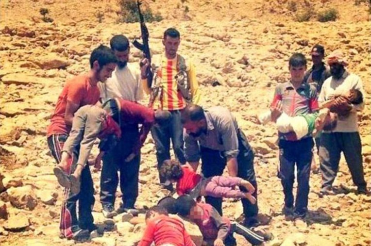 Children dying of thirst on the mountain