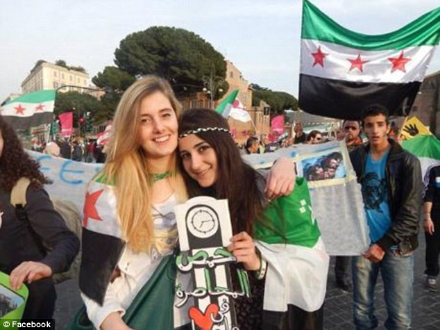 Abducted: Vanessa Marzullo, 21 (left) and Greta Ramelli, 20, (right) were working on humanitarian projects in Syria