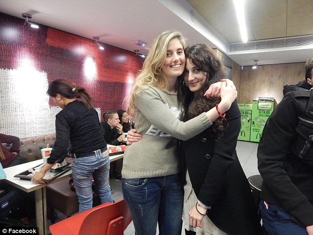 Salvatore Marzullo said his daughter Vanessa (left) had long sympathised with the plight on Syrians and had taken part in a number of protests and demonstrations in her home city of Bergamo