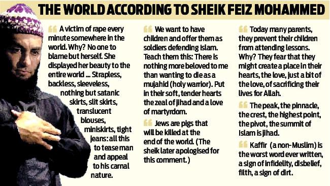 Has Sheik Feiz Mohammed, radical hate preacher in Australia, been arrested yet?