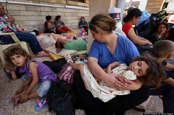 Iraqi Christians who were forced to flee their villages took refuge in Kurdistan