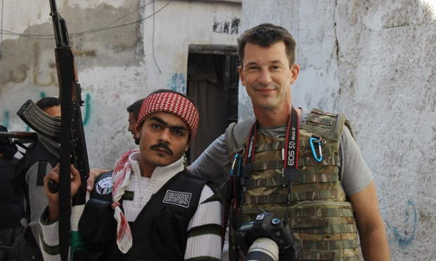 "John Cantlie with one of his Syrian ""rebel"" pals before they were one of his captors"