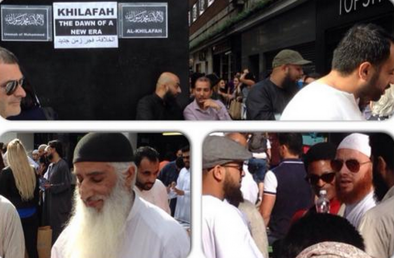 Pro-ISIS supporters handing out leaflets in London recently