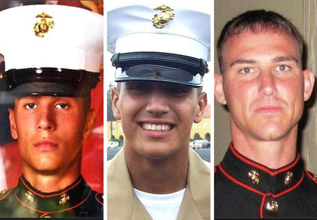 The 3 Marines killed by the Afghan that day