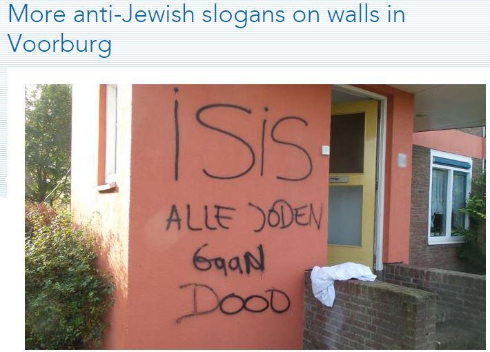 dutch-islamic-anti-semitism-all-jews-die-2.10.2014