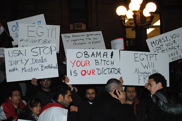 Millions of Egyptians protested against Obama because of his support for Mohamed Morsi