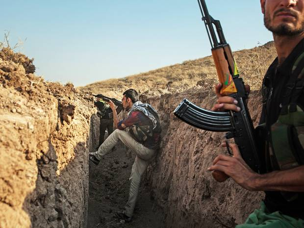 Kurdish fighters still have not received the heavy arms they have requested from the U.S.