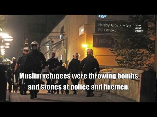 Disturbios musulmanes recientes en Estocolmo