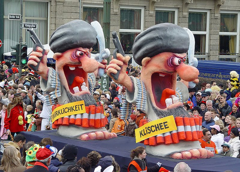Anti-Islamization float in German carnival parade