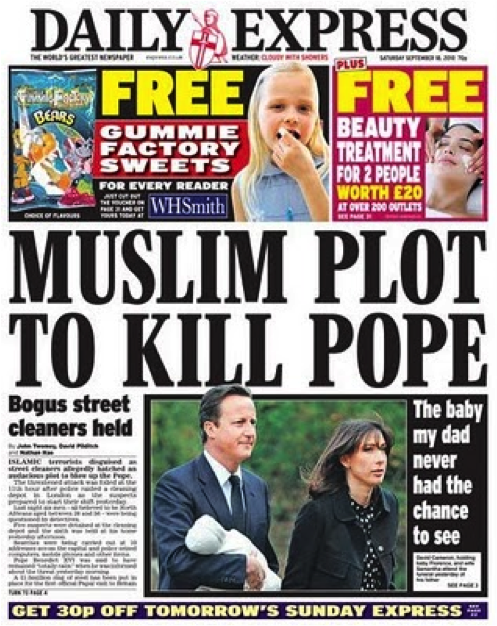 Daily-Express-Muslim-Plot-to-Kill-Pope