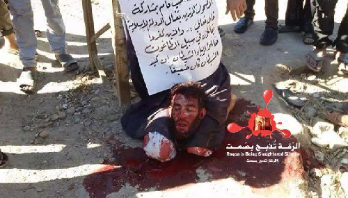 SYRIA: People beheaded by ISIS in Achammaitih in the