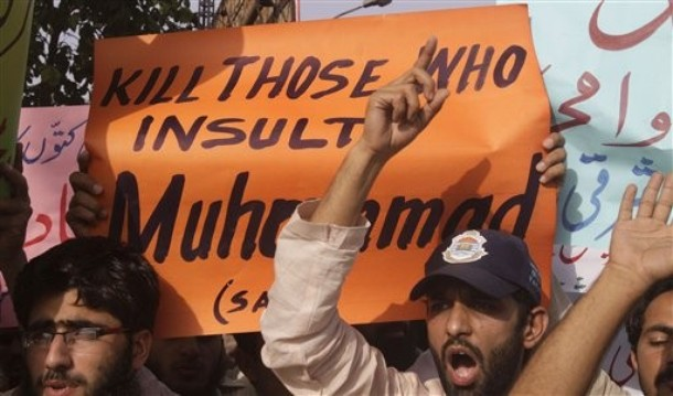 Pakistani students gather to demonstrate against a Facebook page amid anger over a page on the social networking site which encourages users to post images of Islam's Prophet Muhammad