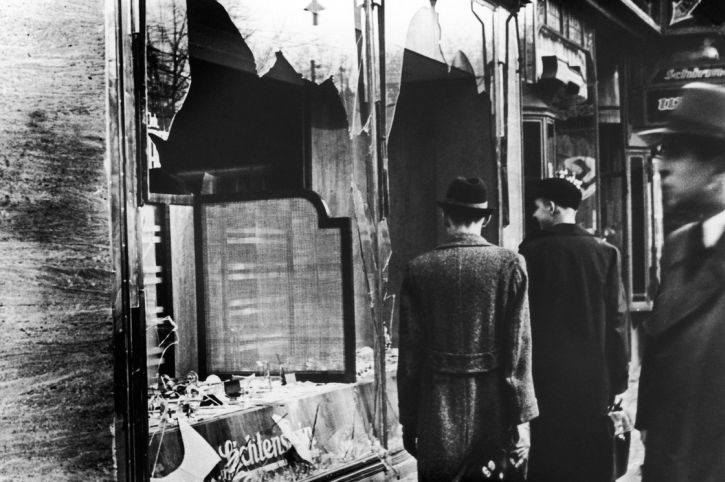 A Jewish shop in Berlin during Kristallnacht