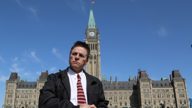 Hassan Diab on Parliament Hill in Ottawa
